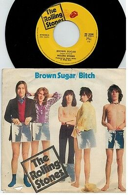 THE ROLLING STONES Brown sugar + Bitch 45rpm 7' + PS 1971 ITALY EX