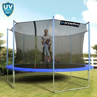 Kinetic Sports Outdoor Trampolin Gartentrampolin mit Netz Randabdeckung Ø 430 cm