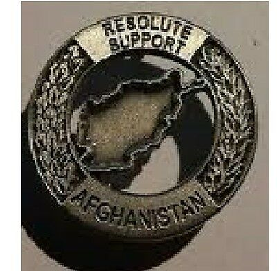 "Spilla Missione RS RESOLUTE SUPPORT -AFGHANISTAN"" ex ISAF Esercito Cod 32"