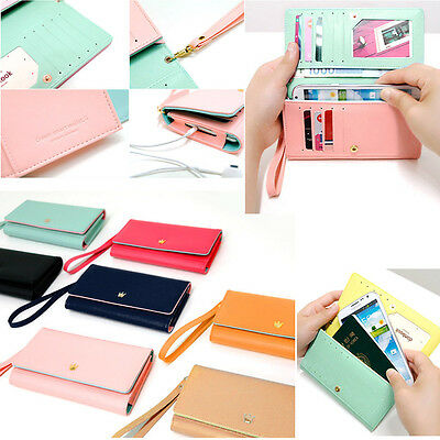 Fashion Ladies Purse Leather Wallet Card Handbag Phone Case For Mobile Phones