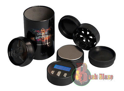 Pocket Stash Can Tin, Herb Grinder and Digital Electronic Weighing Scales 0.01
