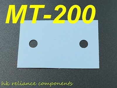 Silicone Rubber Sheet MT-200 38x24mm Insulator for Sanken Transistors, x25 pcs
