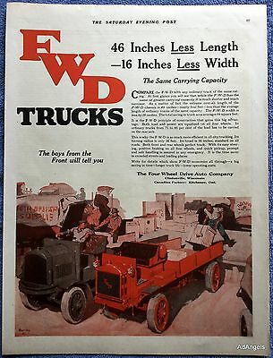 1919 FWD Trucks Four Wheel Drive Auto Co Clintonville Wisconsin Kitchener ON ad