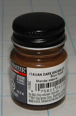 Model Masters Enamel Paint - Italian Dark Brown 211138 1/2Oz