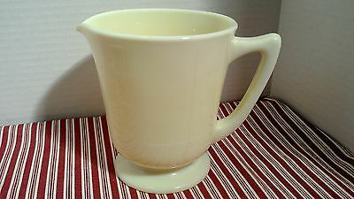 Vintage McKee Seville yellow footed measuring cup, 4c, 6in, 1930's