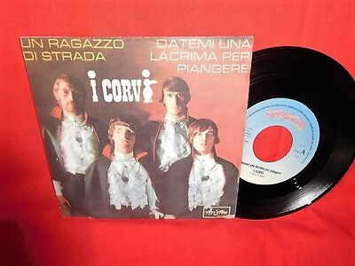 I CORVI Un ragazzo di strada 45rpm 7' + PS 1966 RE ITALY The Chesterfield Kings