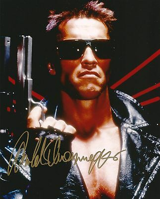 ARNOLD SCHWARZENEGGER AUTOGRAPH - THE TERMINATOR - SIGNED 10x8 SIZE PHOTO