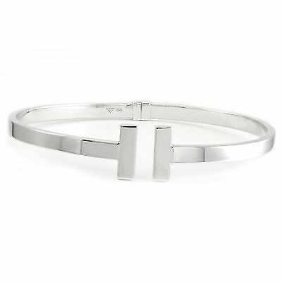 14k white gold bangle (new, 4.8g, 7.5 inches, 4mm wide) 3402