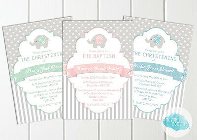 Personalised  Boy / Girl Christening / Baptism / Naming Day Invitations