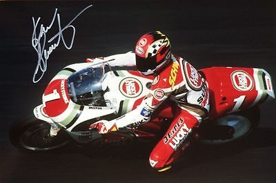 Moto G P Kevin schwantz original hand signed 12x8 photo.