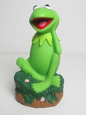 Muppets Kermit The Frog Vinyl Coin Bank 9 Inches Tall From Applause