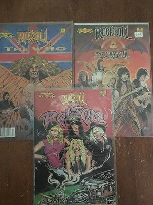 Revolutionary Comics Rock N' Roll Lot Of 3 First Editions ( Who, Poison, Aero)