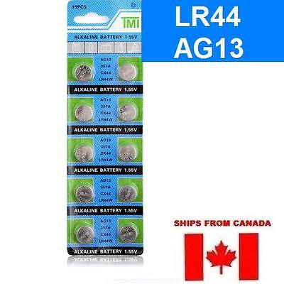 NEW AG13 LR44 Alkaline Battery - 357A CX44 BATTERIES 3V ****FREE SHIPPING****