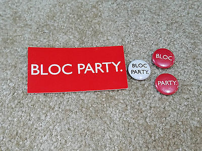 Bloc Party Sticker and Buttons + FREE Bonus!