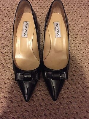 Womens' Jimmy Choo Heels, Pumps, Shoes. Black Patent Leather Size 7 Uk Eu 40