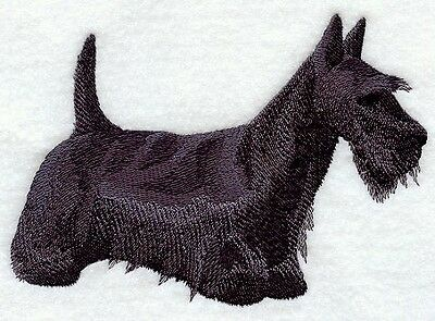 Finished Embroidery Black Scottish Terrier Dog