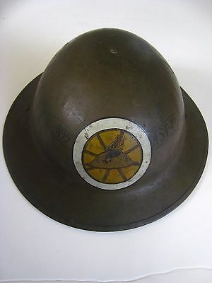 Original WW1 US Army Helmet  Doughboy...Hand Painted Insignia..M.T.C. ..rare