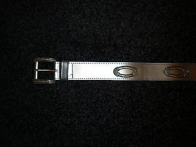 Ladies Vintage Silver Belt with Golden Detail Size Small
