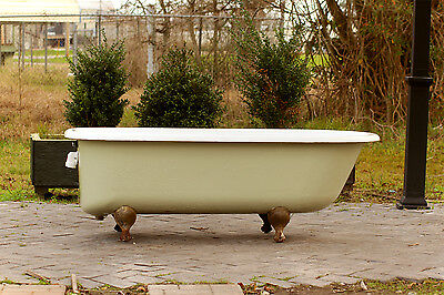 Refinished 1928 Antique 5.5' Clawfoot Bathtub French Grey Cast Iron Porcelain