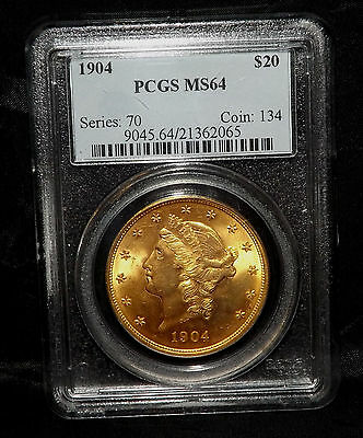 1904 PCGS MS64 $20 Gold Liberty Double Eagle