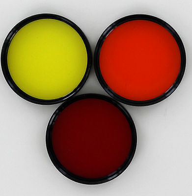 Vivitar 48mm red, orange, & yellow, (set of 3 contrast filters) new old stock
