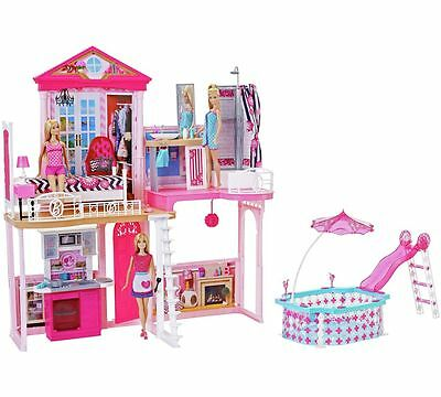 Complete Barbie Home Set 3 Dolls House & Glam