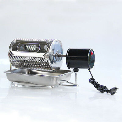 DHL Free Shipping Coffee bean Roaster Machine Electric Stainless Steel 85W 220V