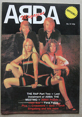 Nice Original Vintage ABBA UK Official Magazine Issue 10 NM