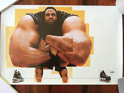 "Excl. Nike Poster Jerome ""The Bus"" Bettis Total Air Bus Max, Steelers Collectors"