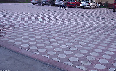 SET OF 2 CONCRETE PAVING INTERLOCKING GARDEN PATH BRICK PLASTIC FLOORTILE 2 set