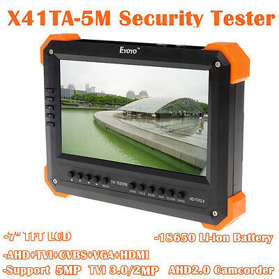 "X41TA 7""TFT LCD 5in1 HD-TVI3.0+AHD2.0 HDMI+VGA+CVBS Camera Video Monitor Tester"