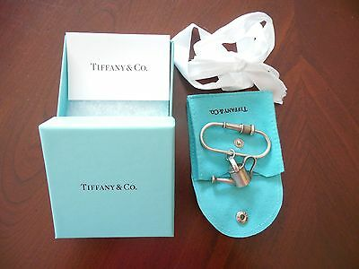 Tiffany & Co 925 Sterling Silver Watering Can Garden Hose Nozzle Key Ring Chain