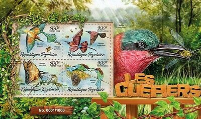 Z08 TG16201a TOGO 2016 Bee-eaters MNH