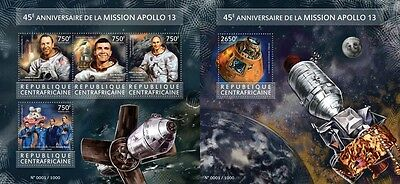 Z08 CA15418ab CENTRAL AFRICA 2015 Apollo 14 MNH Mint Set