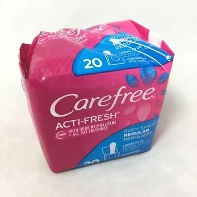 CareFree Body Shape Pantiliners, Reg. Unscented, 20ct 078300069904A102