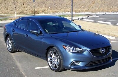 2015 Mazda Mazda6 i GRAND TOURING 19K NIADA CPO CERTIFIED WARRANTY A-NAVIGATION-LEATHER-BACK-UP-CAM-PADDLE-SHIFT-AUTO-GLASS-ROOF-BLUETOOTH-A-BEAUTY