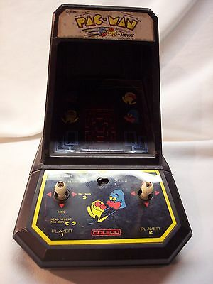 Vintage Pacman Coleco Table Top Arcade Video Game Midway 1981 Works Great!
