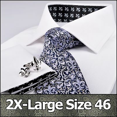 Men's White Formal Business Dress Shirt Small Size 46 Promotional Sale Clearance