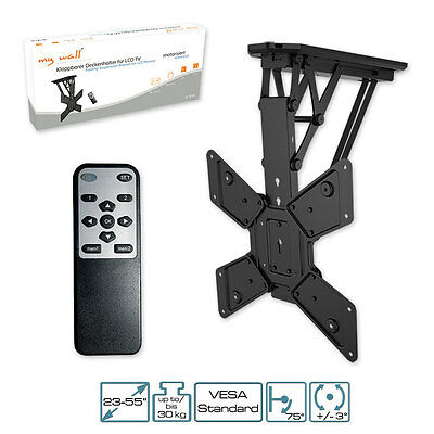 TV Bracket motorized, with IR-Remote controller folding Ceiling for LCD