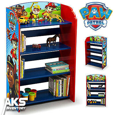 Paw Patrol Bookshelf Kids Bedroom Storage Children Furniture Books Toys Fun New