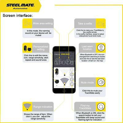 Multiuse Steelmate TrackMate Bluetooth 2-way Car Alarm GPS Tracker System T1A7