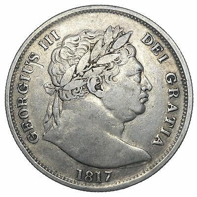 1817 Halfcrown - George Iii British Silver Coin - Nice