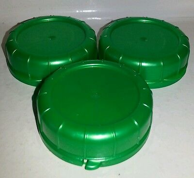 REPLACEMENT GLASS MILK Bottle Lids 48mm Caps for Libbey & Stan-Pac 3,  Green, NEW