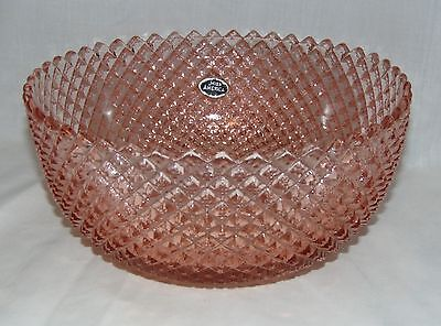 "Anchor Hocking MISS AMERICA PINK *8 3/4"" STRAIGHT DEEP BOWL*w/STICKER*"