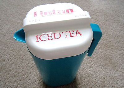 Rare Vintage LIPTON Iced Tea Pitcher Tall 1/2 Gal Ice Tea Jug