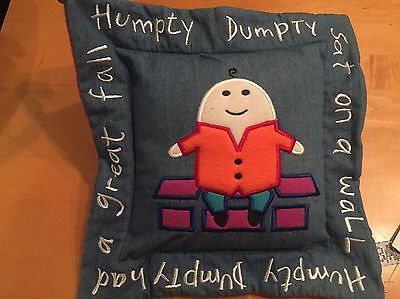 Baby Gap Humpty Dumpty Decorative Nursery baby crib Pillow- New with tags