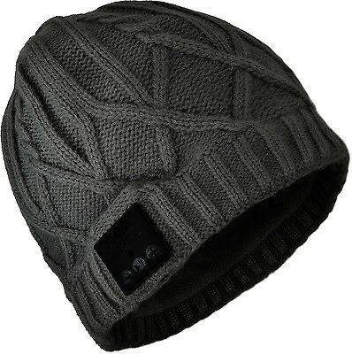 The Kase Collection Casque Bluetooth Bonnet maille torsadee Neuf
