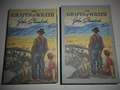 FIRST EDITION LIBRARY The Grapes of Wrath by John Steinbeck in Slipcase