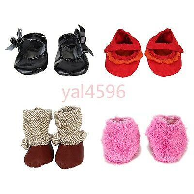4pcs Doll shoes Wearfor 43cm Baby Born zapf (only sell shoes)
