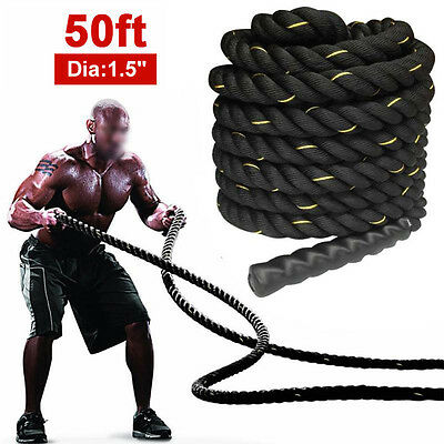 15m Heavy Home Gym Battle Rope Battling Power Crossfit Fitness Strength Exercise